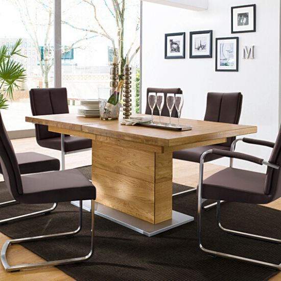Enjoy delicious dining with our contemporary 6 seater wooden dining table sets including round, rectangle, oval & square