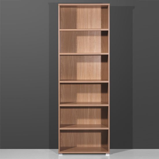 Vision Royal Walnut 6 Tier Shelving Unit