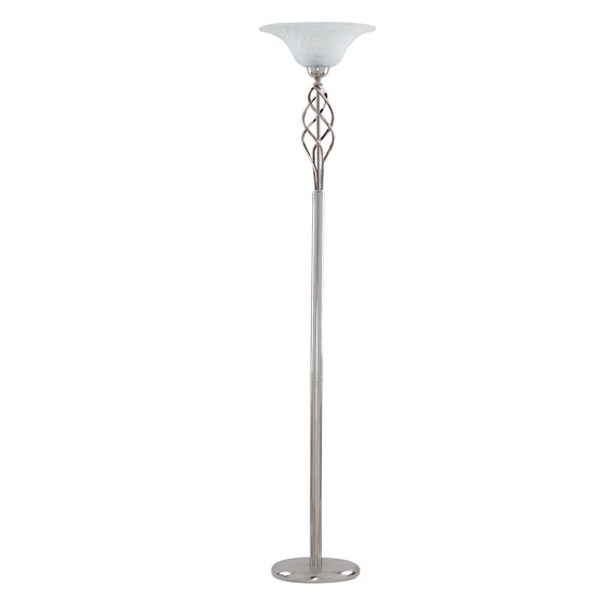 Uplighter black chrome floor lamps with sliding dimmer for Uplighter floor lamp dimmer switch