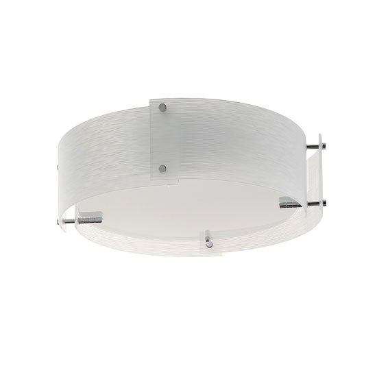 Madison 3 Lamp Chrome Finish Ceiling Light With Opal Glass
