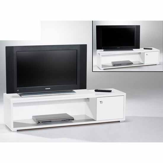 Stella swivel plasma tv stand in white buy modern budget for White plasma tv stands