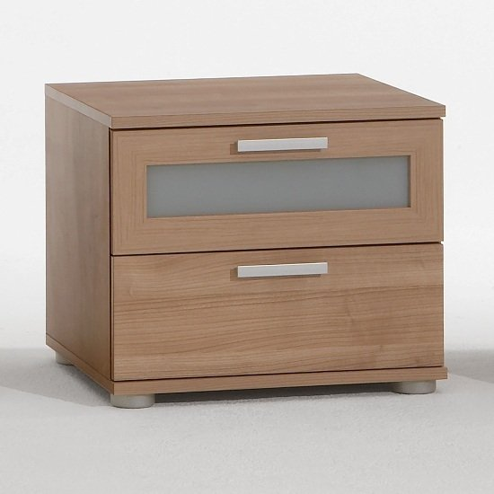 Toronto 2 Drawer Bedside White High Gloss - Bedside Cabinets ...