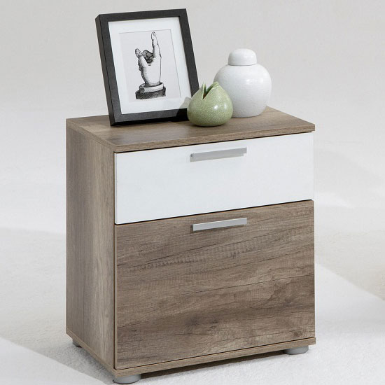 Read more about Jack 3 wild oak finish wooden bedside cabinet with 2 drawers