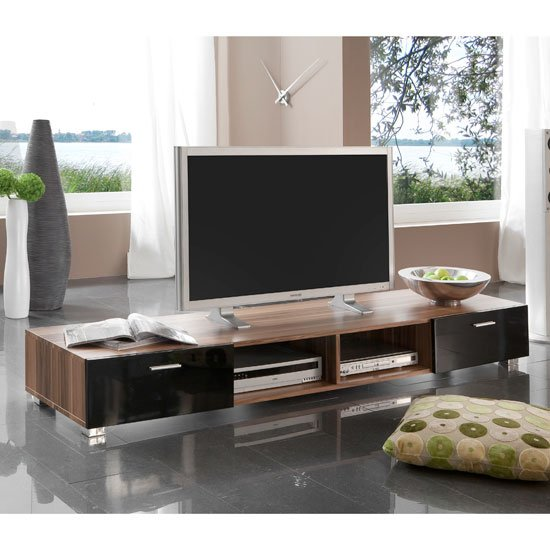 61704 large tv stand walnut - Buy Cheap Furniture Bad Furniture