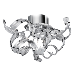 Sparkles 5 Lamp Chrome Finish Ceiling Light