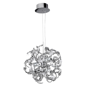 Sparkles 9 Lamp Chrome Ceiling Pendant With Acrylic Design