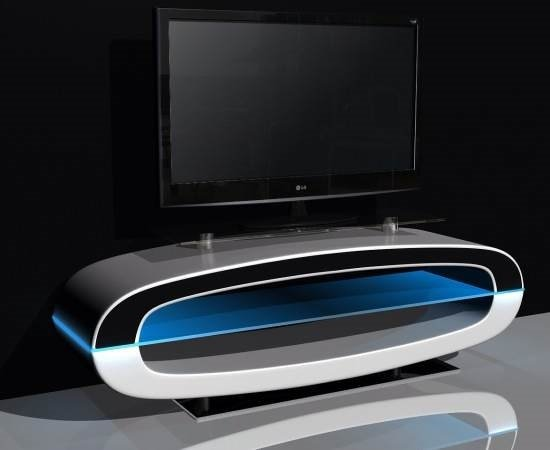 Michigan Tv Stand High Gloss White With Speakers And Usb