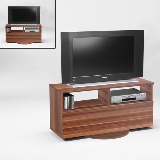 Cubic2 Walnut Swivel Tv Stand 6443 18 Ebay