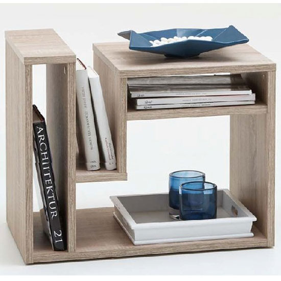 Fritz Side Table In Canadian Oak With Storage