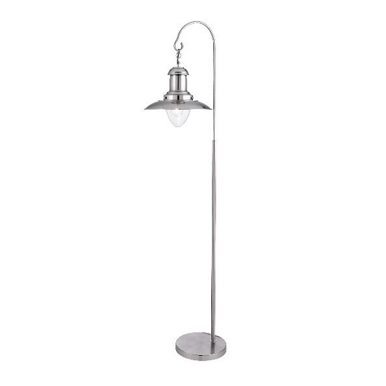 Fisherman Vintage Satin Finish Floor Lamp In Glass Shade_1