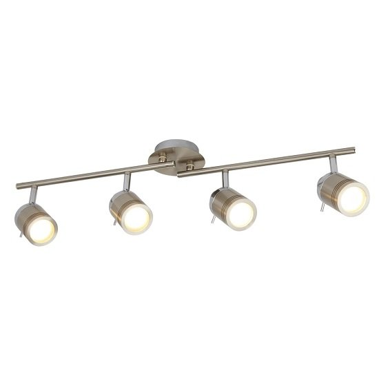 Striking Four Light Satin Silver Bathroom Spot Split-bar