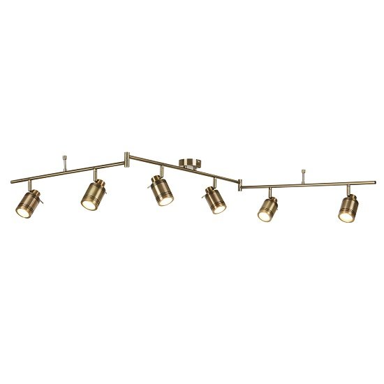 Beautiful Six Light Antique Brass Bathroom Spot Split-bar