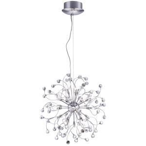Sonja Chrome 24 Light Fitting With Crystal Balls Decoration
