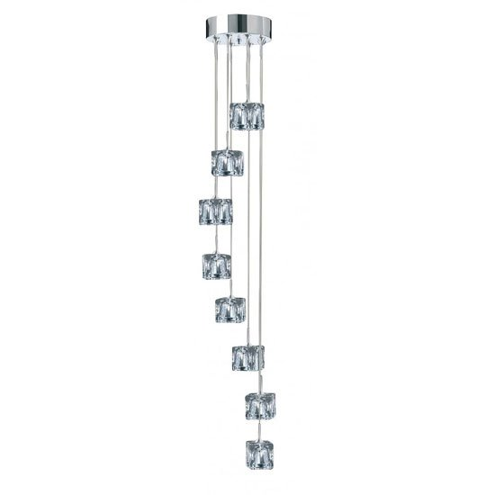 Ice Cubes 8 Light Pendant With Flexible Cable Suspension