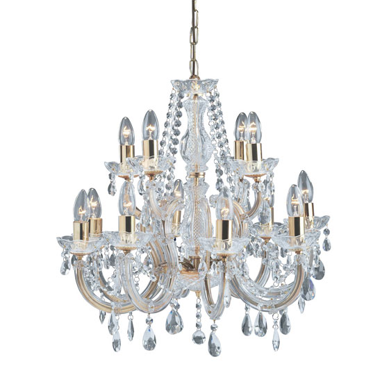 Marie Therese Chandelier Ceiling Light With Octagonal Droplets