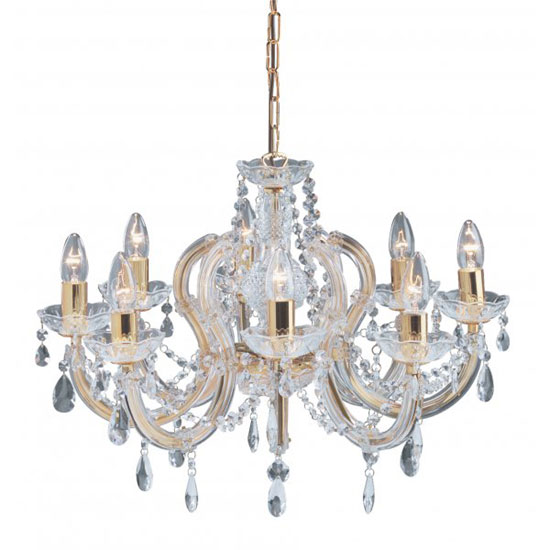 Marie Therese 8 Lamp Ceiling Light With Octagonal Droplets