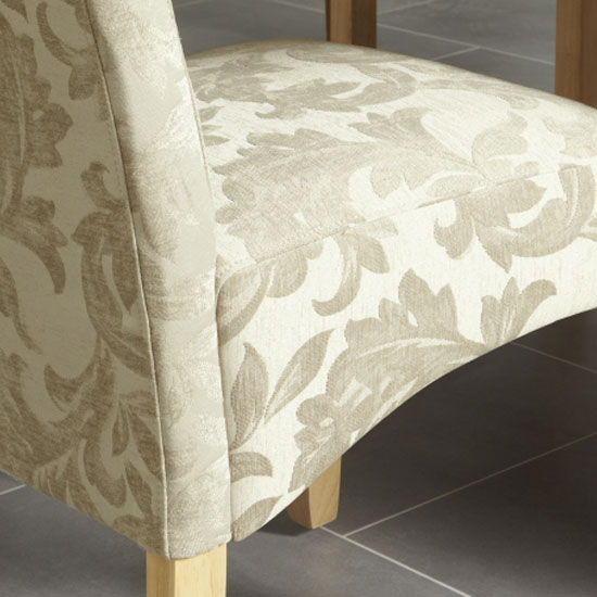 Ameera Dining Chair In Floral Sage Fabric And Oak in A Pair_6
