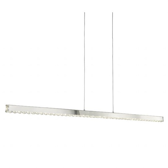 Clover Straight Bar Celing Light With Clear Crystal Glass