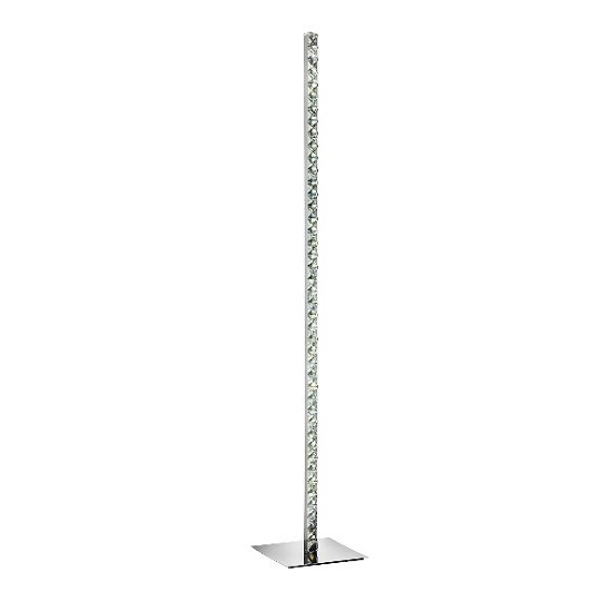 Clover Polished Chrome Led Floor Lamp With Square Base