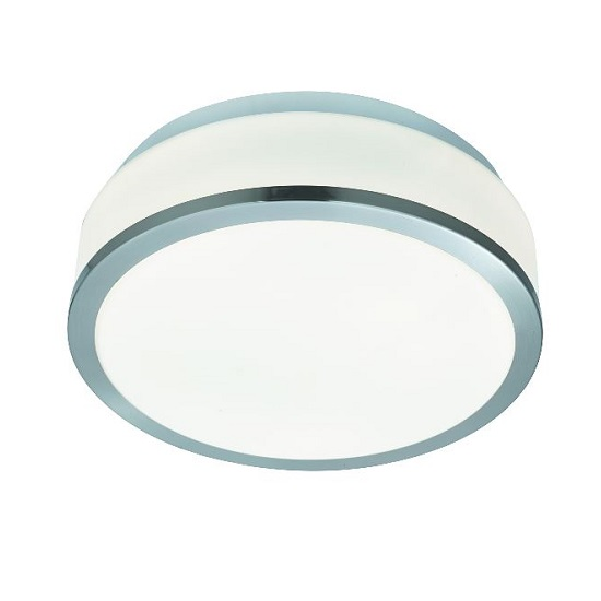 Discs Bathroom Lamp In Opal Glass Shape With Silver Trim_1