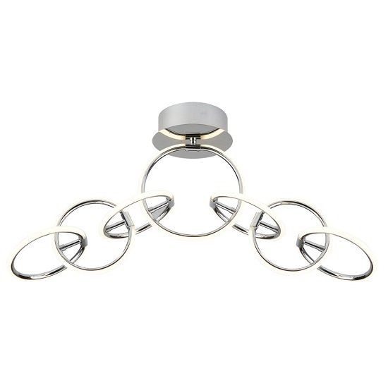 Solexa Chrome Finish Ring Ceiling Flush LED Light