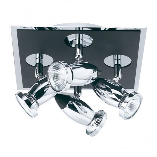 Comet Chrome Finish Spotlight With Four Adjustable Lamp