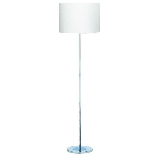 Drum Chrome Corner Floor Lamp With Silver Round Base