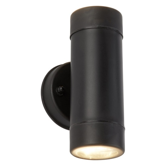 Outdoor Black Cylinder Shape Light With Wall Bracket 34281