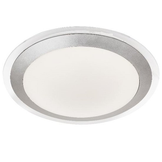 Silver Acrylic Shade Ceiling Bathroom White Led Light
