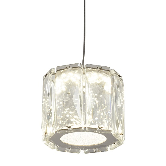 Maxim Celing Light Octagon Pendant With Clear Crystal Trim