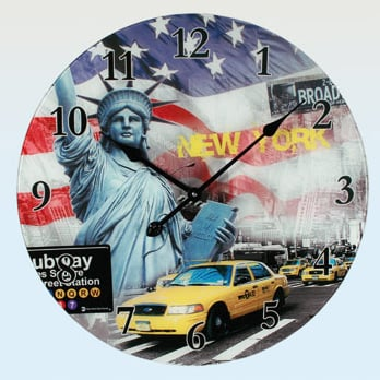 America Glass Wall Clock