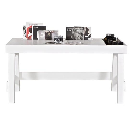 Spalding Wooden Computer Desk In Solid White Pine