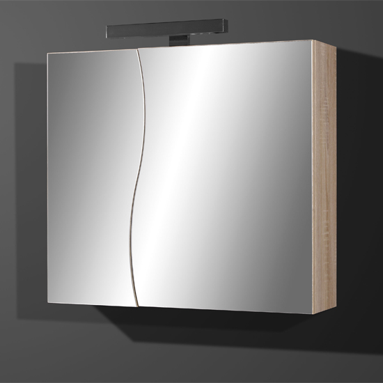 Verena Mirrored Bathroom Cabinet in Canadian Oak