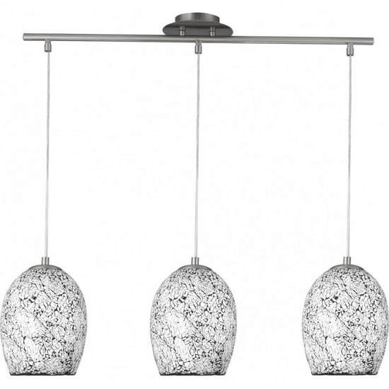Crackle White Mosaic Glass Celing Light With Dome Shades