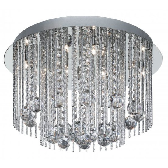 Beatrix 8 Light Semi Flush Ceiling Light Polished Chrome