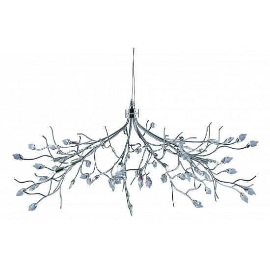Wisteria Maple Leaf Ceiling Light Fitting With Crystal Leaves