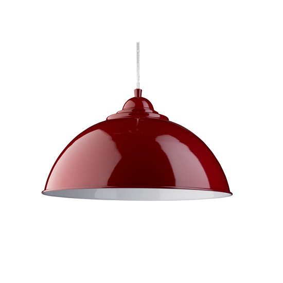 Fusion Sanford Whit Inner Dome Shape Red Pendant Lamp