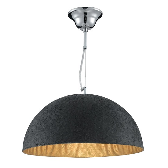 Read more about Anishi black metal pendant with gold burnish inside finish