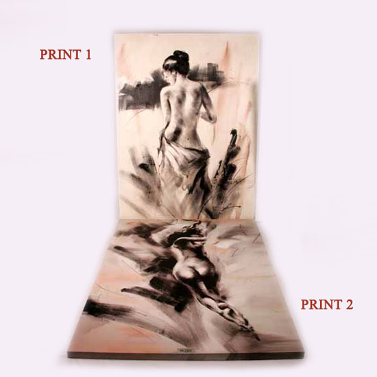 84 2303 naked lady wall art - Wall Art For Above Bed