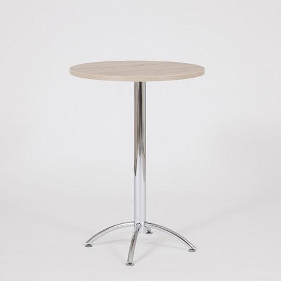 Neve Bar Table In Beech With Chrome Legs