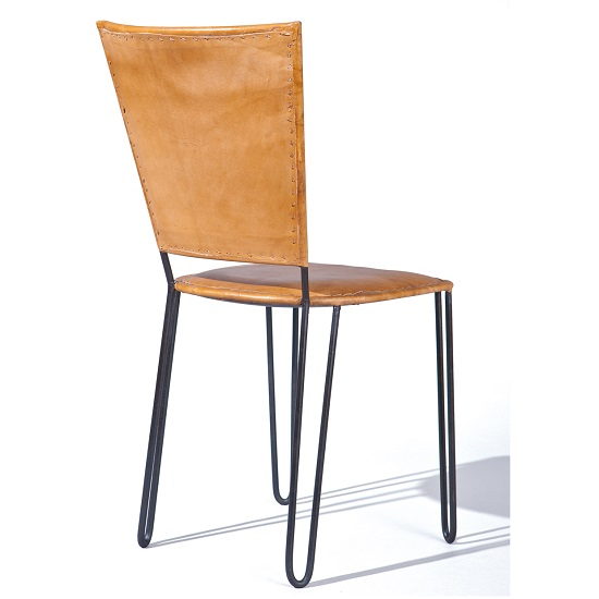 Rosi Dining Chair Leather French Design Metal Frame Set Of Two 2