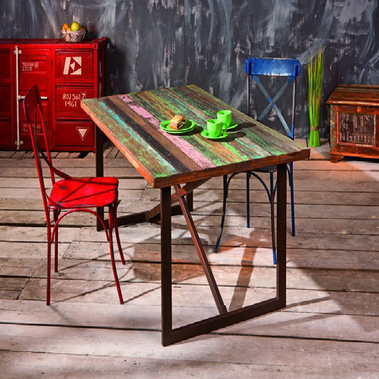 Colori Urban Chic Rectangular Dining Table With Metal Legs Only