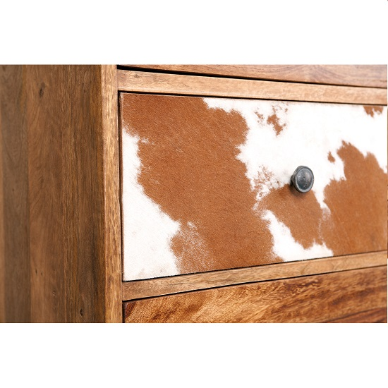 Natural Look Chest Of Drawers In Mango Wood_3