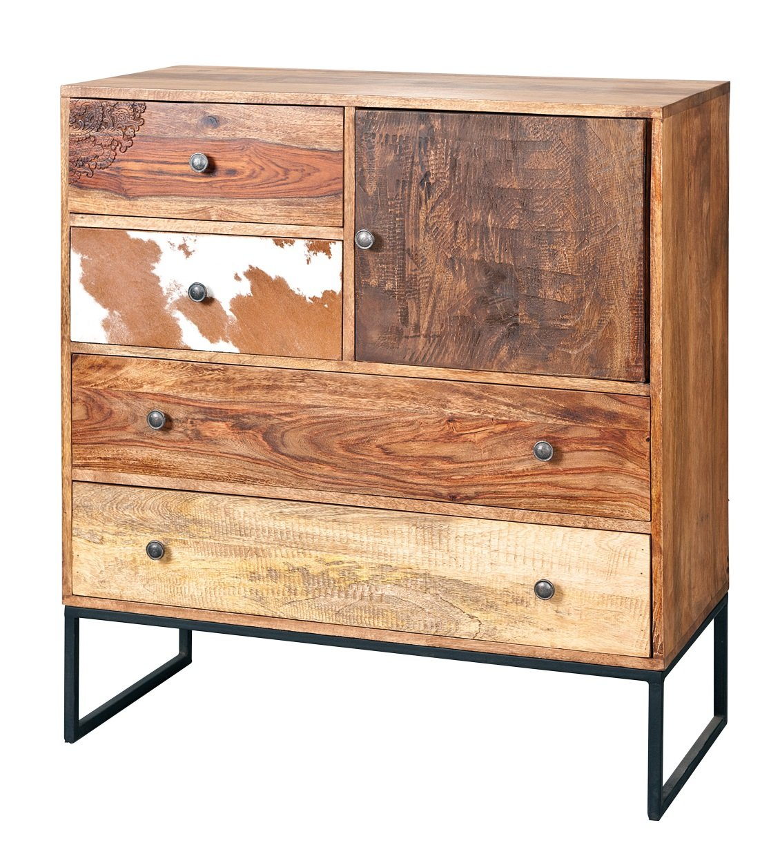 Natural look chest of drawers in mango wood furniture