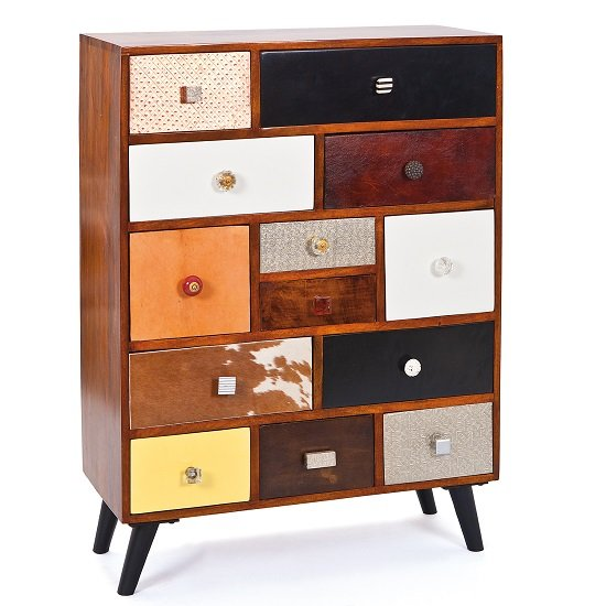 Funky Wooden Sideboard Chest Of Metal Drawers