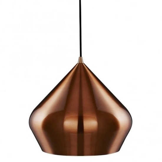 Vibrant Copper Pendant Lamp In Pyramid Shape