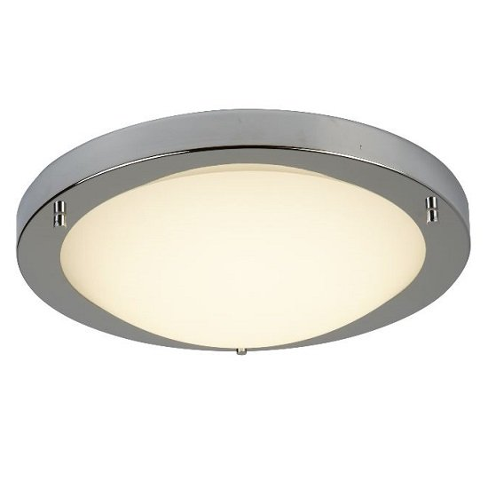 Chrome Silver Finish LED Celing Light With Flush Fitting