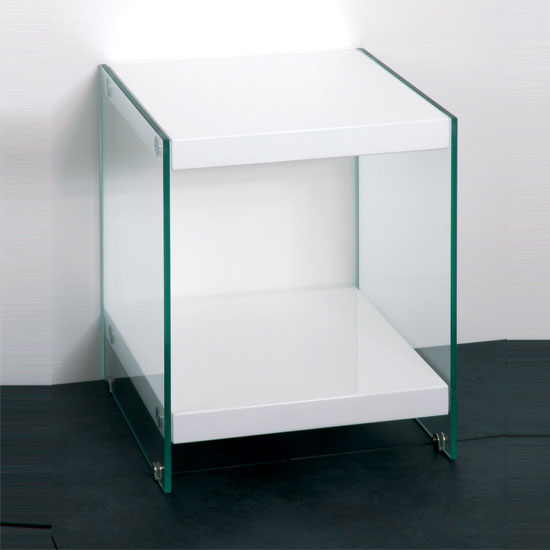 Tim Clear Glass Coffee Table With High Gloss White Base: S Shape Glass Top Beech Coffee Table With Storage 6944 Furni