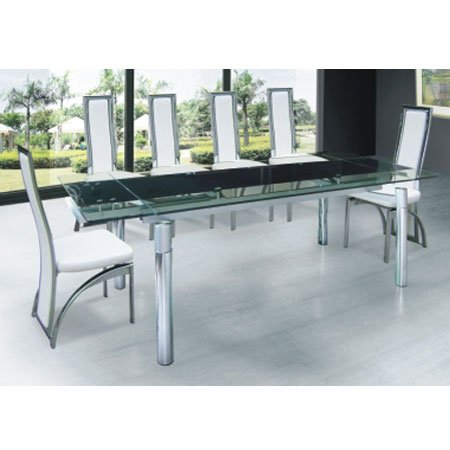 HD wallpapers hygena savannah glass dining table and 6 black chairs