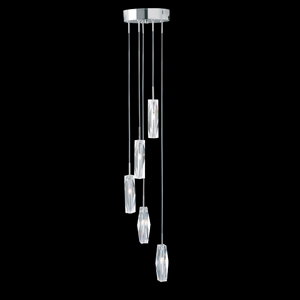 Read more about Sculptured ice chrome finish light
